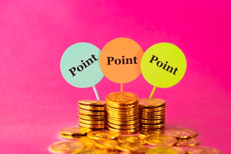 お金とポイントマーク