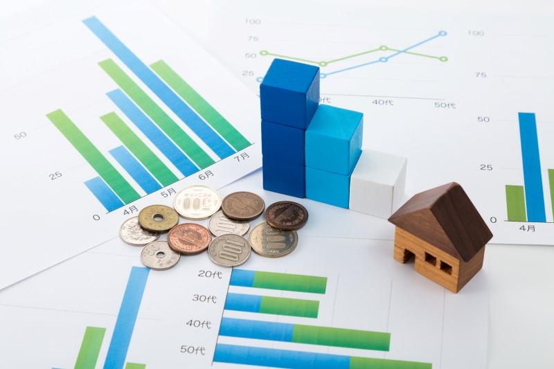 利率グラフト小銭と家
