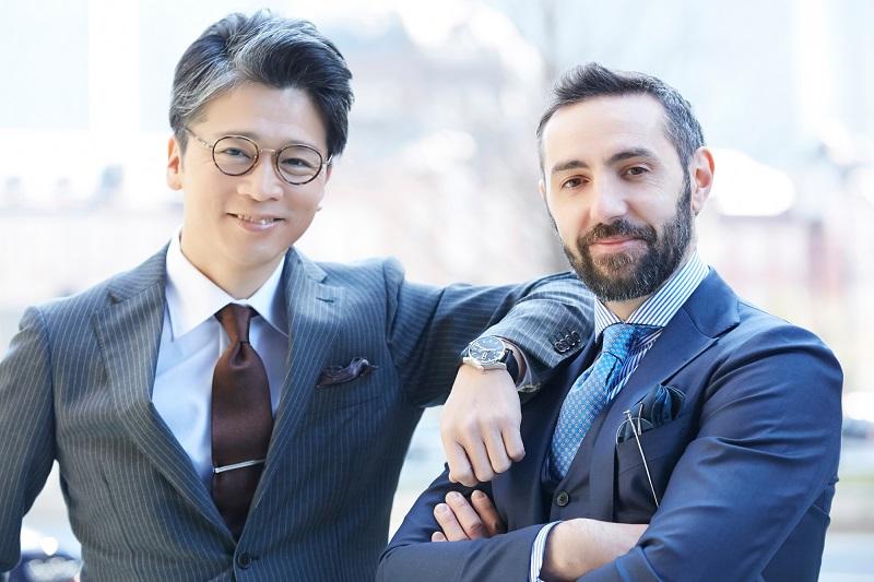 日本人の男子と外国人の男子